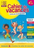 Maguy Bilheran et Laurent Kling - Cahier de vacances Du CE2 au CM1 - 8-9 ans.