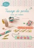 Caroline Soulères et Fabrice Besse - Tissage de perles avec un métier.