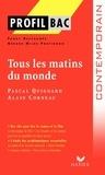 Fanny Deschamps et Gérard Milhe Poutingon - Tous les matins du monde - Pascal Quignard (1991) Alain Corneau (1991).