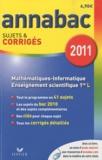 Richard Bréhéret et Hélène Hervé - Mathématiques-Informatique 1e L, Enseignement scientifique 1e L - Sujets et corrigés 2011.