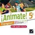Stéphanie Gaillardin et Valérie Laluque - Animate! Espagnol 5e Palier 1 A1-A1+/A2 LV1 et bilangues. 2 CD audio