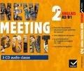 Josette Starck et Cynthia Benrey - Anglais 2e A2/B1 New Meeting Point. 3 CD audio