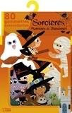 Coralie Vallageas - Sorcières, monstres et fantômes - 80 gommettes autocollantes.