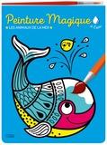 Corinne Lemerle - Peinture magique à l'eau - Les animaux de la mer, avec un pinceau.
