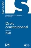 Droit constitutionnel 2020 - 38e éd..