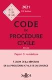 Pierre Callé et Laurent Dargent - Code de procédure civile 2021, annoté - 112e ed..