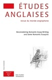 Denis Bonnecase et Marc Porée - Etudes anglaises N° 66/1, Janvier-mar : Reconsidering Romantic Essay-Writing and Some Romantic Essayists.