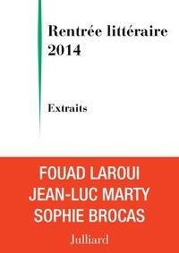 Sophie Brocas et Jean-Luc Marty - Extraits Rentrée littéraire Julliard 2014.