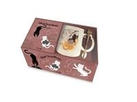 Sophie Johnson et  Dannyboy - Coffret Chat' touillette - Nouvelles pensées drôles de nos chats avec 1 mug + 1 touillette.
