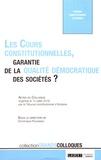 Dominique Rousseau - Les cours constitutionnelles, garantie de la qualité démocratique des sociétés ? - Actes du colloque organisé le 12 juillet 2018 par le Tribunal constitutionnel d'Andorre.