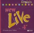 Collectif - New Live Anglais 4e - CD Audio pour l'élève.