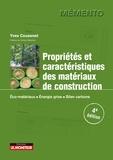 Yves Couasnet - Propriétés et caractéristiques des matériaux de construction - Éco-matériaux,  Énergie grise,  Bilan carbone.