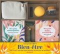 Joëlle Le Guehennec et Rachel Frély - Mon grand coffret Bien-être - Tout ce qu'il vous faut pour favoriser le bien-être au quotidien ! Avec 1 rouleau de jade, 1 bouillotte naturelle, 1 balle en mousse, 1 flacon roll-on et 1 pot de crème.