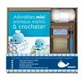 Marie Clesse - Coffret adorables mini animaux marins à crocheter - Avec 1 crochet, des pelotes, 4 yeux de sécurité, rembourrage.