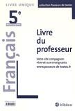 Corinne Abensour - Français 5e - Livre du professeur.
