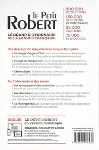 Le Petit Robert de la Langue Française et sa version numérique  Edition 2022