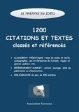 Association Traverses - Le théâtre en idées - 1200 citations et textes classés et référencés.