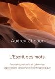 Audrey Chapot - L'Esprit des mots - Pour retrouver sens et cohérence - Explorations personnelle et anthropologique.
