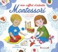 Vendula Kachel et Céline Santini - Mon coffret d'activités Montessori - Avec 1 tangram, 32 cartes, 5 puzzles.