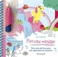 Clémentine Dérodit - Licornes - Peins avec de l'eau pour voir apparaitre les couleurs ! Avec un pinceau.
