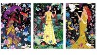 Cartes à gratter Princesses du monde. Avec 5 tableau, 1 encadrement, 1 bâtonnet