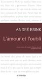 André Brink - L'Amour et l'Oubli.