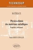 Nathalie Siredey-Schwaller - Physico-chimie des matériaux métalliques - Propriétés, traitements.