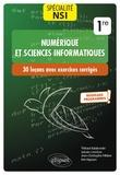 Kim Nguyen et Jean-Christophe Filliâtre - Spécialité Numérique et sciences informatiques 1re - 30 leçons et 300 exercices corrigés.