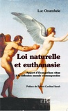 Luc Onambele - Loi naturelle et euthanasie - Apport d'Evangelium vitae à la réflexion morale contemporaine.