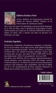 Gabriela Zapolska actrice. L'expérience française