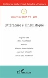 IREA - Cahiers de l'IREA N° 7/2016 : Littérature et linguistique.