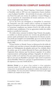L'obsession du complot bamiléké. Ma rencontre avec Jean Fochivé - Mémoire des années de braise au Cameroun. Fragments d'autobiographie politique