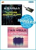 Herbert George Wells - Coffret WELLS  2 livres audio sur carte USB: La Machine à Explorer le temps et L'île du Docteur Moreau. 1 Clé Usb