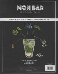 Mon bar à cocktails avec et sans alcool. Coffret avec 1 shaker en inox de 400 ML, 1 pilon en inox et 1 doseur double  Edition 2018