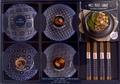 I2C - Coffret bleu Mes bols santé Poke Bowls et Buddha Bowls - Mes bowls santé, poké bowls et buddha bowls, avec 4 paires de baguettes bois, 4 bols.