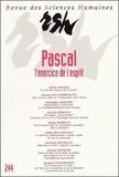 Christian Meurillon - Revue des Sciences Humaines N° 244, 10/1996 : Pascal - L'exercice de l'esprit.