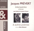 Jacques Prévert et  Arletty - Imtempéries (Féérie). 1 CD audio