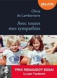 Olivia de Lamberterie - Avec toutes mes sympathies. 1 CD audio MP3