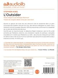 L'Outsider  avec 2 CD audio MP3