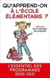 Men - Qu'apprend-on à l'école primaire ?.