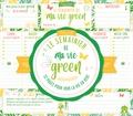 Editions 365 - Le semainier de ma vie green - 53 pages pour voir la vie en vert.