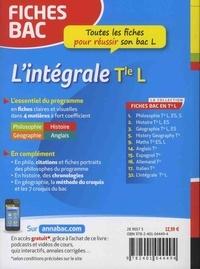 L'intégrale Tle L  Edition 2018