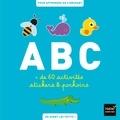 Collectif - ABC des animaux - Plus de 60 activités stickers et pochoirs pour apprendre en s'amusant.