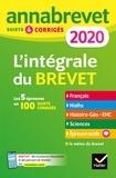 Collectif - Annales du brevet Annabrevet 2020 L'intégrale 3e - pour se préparer aux 4 épreuves écrites et à l épreuve orale.