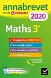 Annales du brevet Annabrevet 2020 Maths 3e - 90 sujets corrigés.