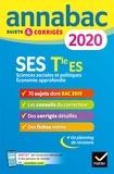 Sylvie Godineau et Denis Martin - Annales Annabac 2020 SES Tle ES Spécifique & spécialités - sujets et corrigés du bac   Terminale ES.