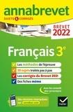 Christine Formond et Louise Taquechel - Annales du brevet Annabrevet 2022 Français 3e - méthodes du brevet & sujets corrigés.