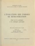 Bernard Mottez - L'évolution des formes de rémunérations - Essai sur les pratiques et des idéologies patronales. Thèse pour le doctorat de 3e cycle.