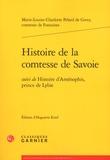 Comtesse de Fontaines - Histoire de la comtesse de Savoie - Suivi de Histoire d'Aménophis, prince de Lybie.