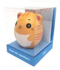 Cindy Chapelle - Soyez zen, squishez ! - Coffret avec un squishy chat à malaxer.